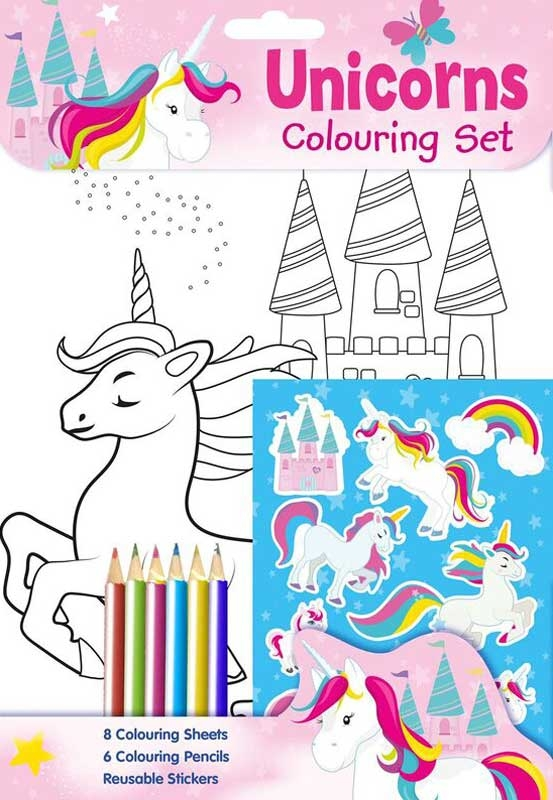 Wholesalers of Unicorns Colouring Set toys