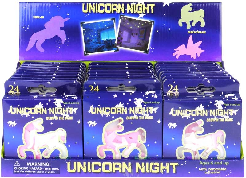 Wholesalers of Unicorns Glow In The Dark 5-6.5cm toys