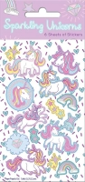 Wholesalers of Unicorns Party  6 Sheets Stickers toys image