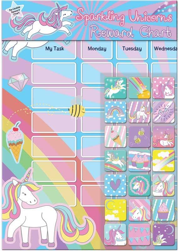 Wholesalers of Unicorns Reward Chart toys
