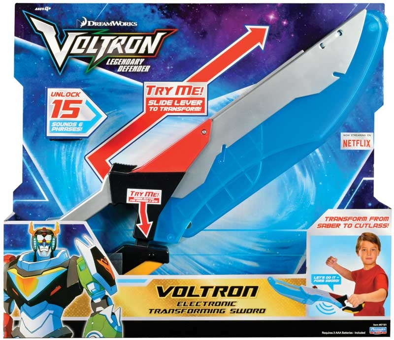Wholesalers of Voltron Electronic Transforming Sword Int Ic toys