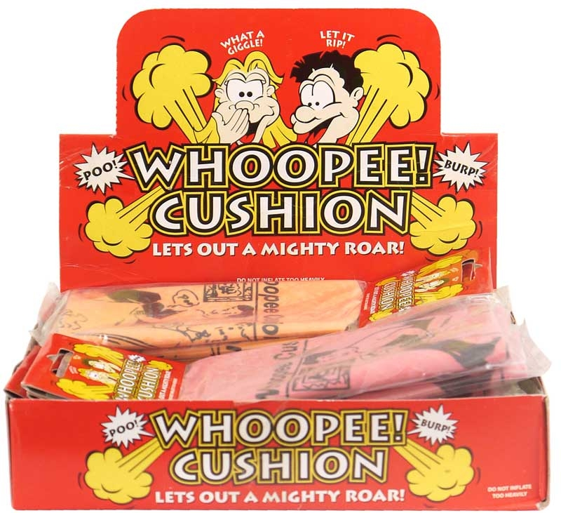 Wholesalers of Whoopee Cushion 16.5cm 4 Asst Cols toys