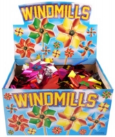 Wholesalers of Windmill Foil 9cm With31 Cm Stick 4 Asst Cols toys image