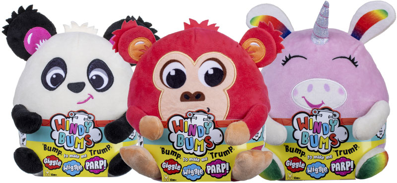 Wholesalers of Windy Bums Soft Toys Asst toys