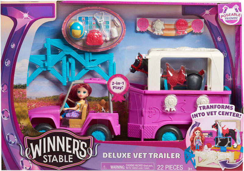 Wholesalers of Winners Stable Deluxe Trailer toys