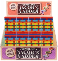 Wholesalers of Wood Works Game Ladder Jacobs Wooden 5x5x8.5cm toys image