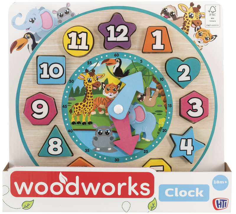 Wholesalers of Wooden Clock toys