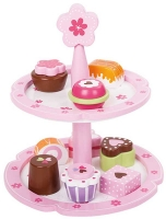 Wholesalers of Wooden Flower Cupcake Stand toys image