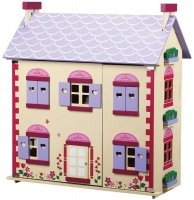 Wholesalers of Wooden Rose Doll House With Furniture toys image