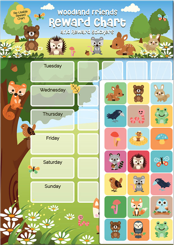 Wholesalers of Woodland Friends Reward Chart And Stickers toys