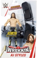 Wholesalers of Wwe Wrekkin Figure Aj Styles - Punching - 2x Chairs toys image